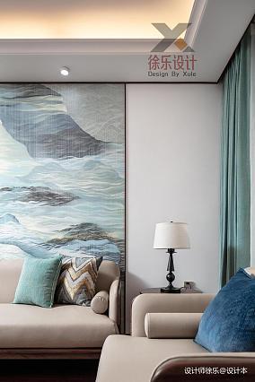 华丽93平中式三居客厅美图101-120m²三居中式现代家装装修案例效果图