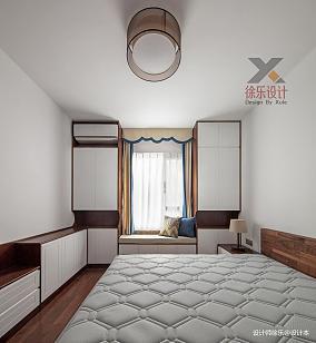 轻奢106平中式三居卧室实拍图101-120m²三居中式现代家装装修案例效果图