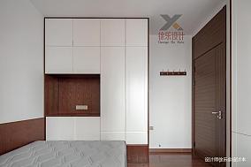 简洁78平中式三居书房装修图101-120m²三居中式现代家装装修案例效果图