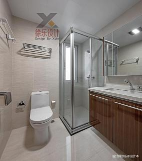 质朴110平中式三居卫生间装修装饰图101-120m²三居中式现代家装装修案例效果图