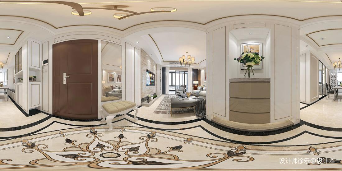 优雅88平新古典三居装饰图片功能区美式经典功能区设计图片赏析