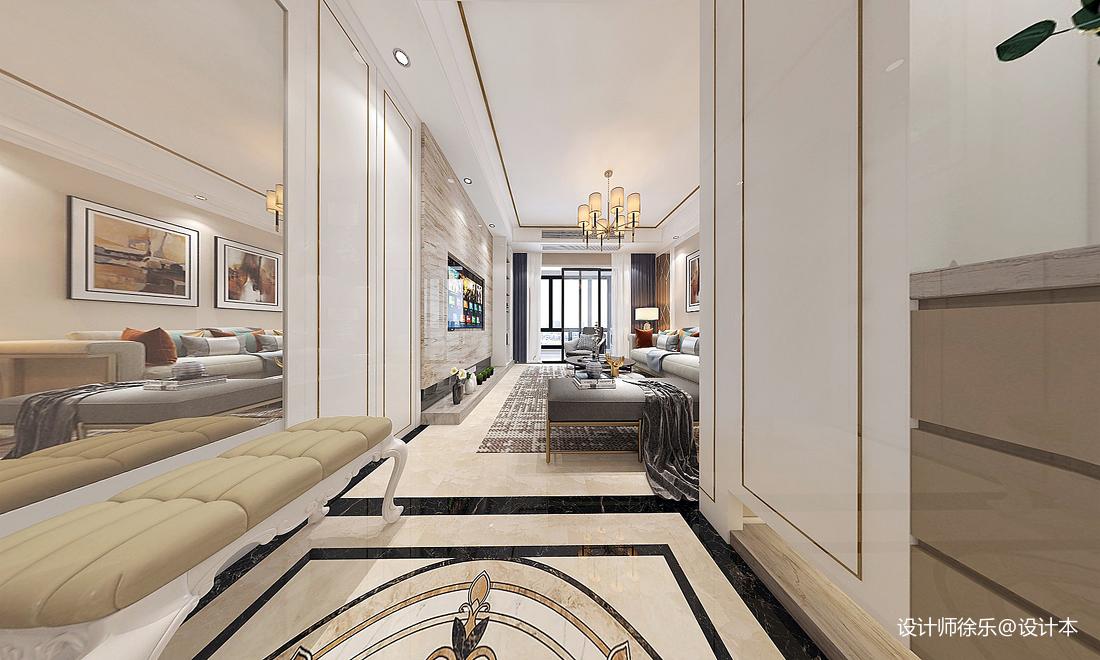大气138平新古典三居客厅设计效果图客厅美式经典客厅设计图片赏析