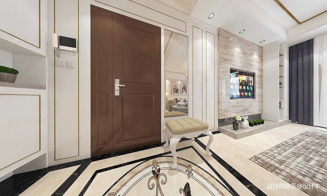 悠雅115平新古典三居客厅实拍图客厅美式经典客厅设计图片赏析