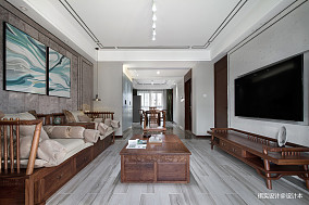 明亮130平现代四居客厅设计图