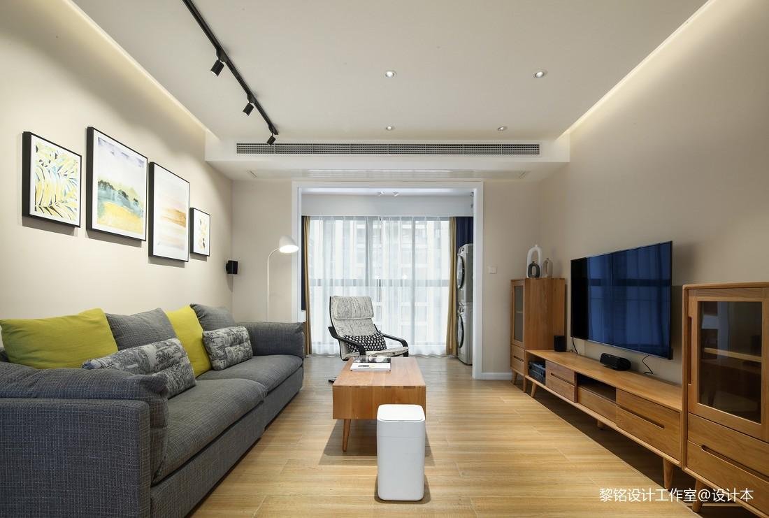 悠雅105平北欧三居客厅装修装饰图三居北欧极简家装装修案例效果图