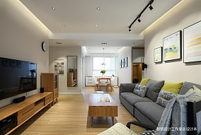 典雅112平北欧三居客厅设计效果图三居北欧极简家装装修案例效果图