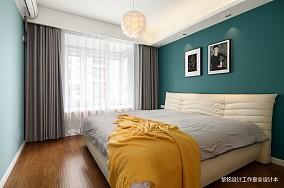 温馨114平北欧三居卧室效果图片大全三居北欧极简家装装修案例效果图
