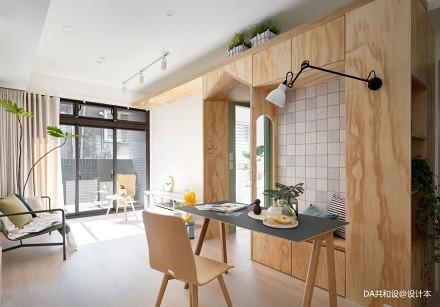 明亮56平北欧小户型客厅图片欣赏60m²以下一居北欧极简家装装修案例效果图