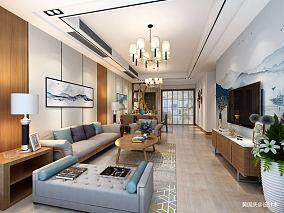 华丽130平中式三居客厅效果图