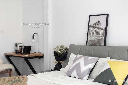浪漫72平北欧二居卧室装饰图片