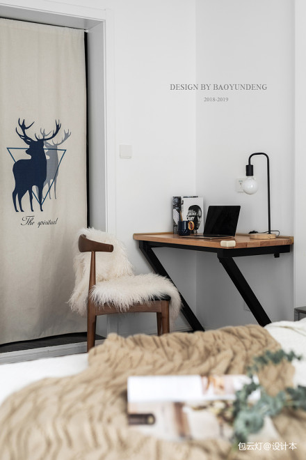 质朴72平北欧二居书房装饰图片