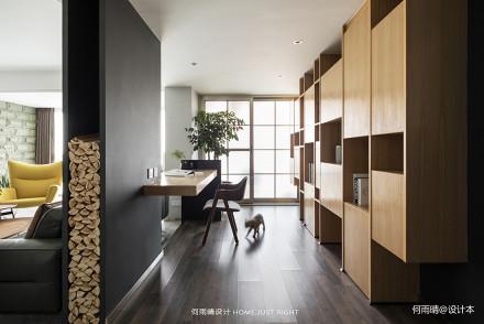 精美140平现代四居书房设计美图四居及以上现代简约家装装修案例效果图
