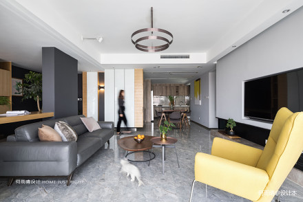 明亮141平现代四居客厅效果图欣赏