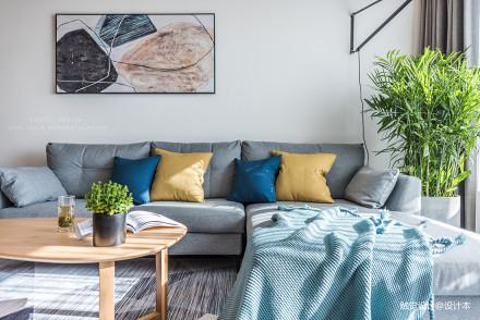 简约混搭风客厅沙发设计图二居潮流混搭家装装修案例效果图
