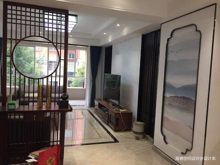 简洁101平中式四居客厅设计图