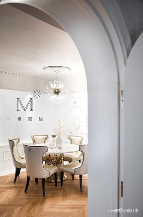明亮127平美式三居装饰图片三居美式经典家装装修案例效果图