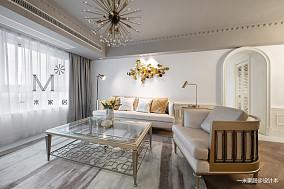 温馨127平美式三居装修案例三居美式经典家装装修案例效果图