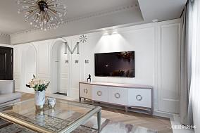 轻奢124平美式三居装修图片三居美式经典家装装修案例效果图