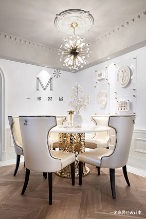 优美123平美式三居装饰图三居美式经典家装装修案例效果图