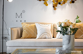 明亮125平美式三居布置图三居美式经典家装装修案例效果图