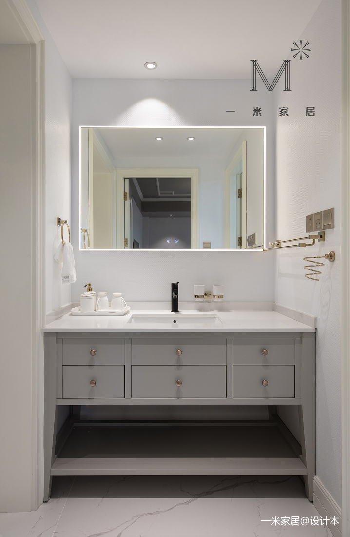 [一米家居]140m²美式卫生间美式经典卫生间设计图片赏析