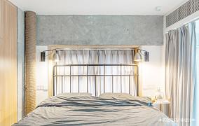 简洁63平LOFT复式卧室装潢图