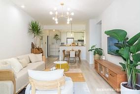 温馨106平日式三居客厅设计美图