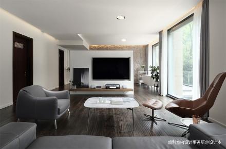 明亮258平现代别墅客厅设计案例