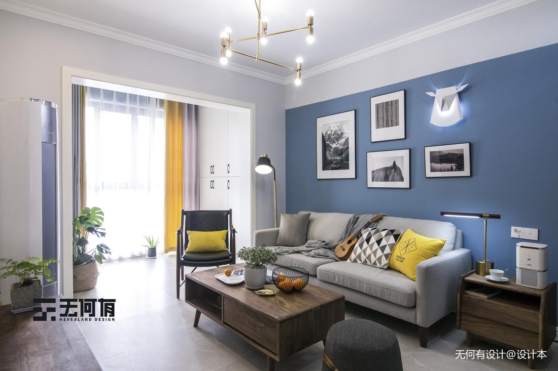 明亮96平北欧二居客厅装饰图片客厅北欧极简客厅设计图片赏析