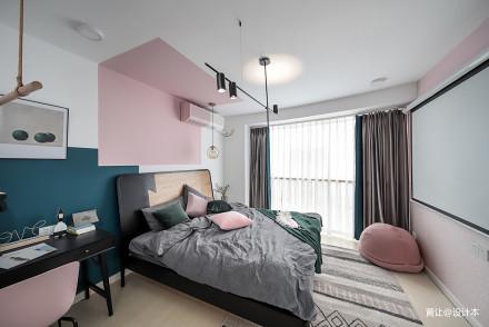 浪漫26平北欧小户型卧室装修设计图