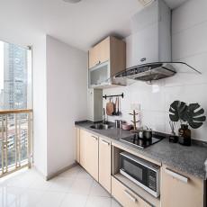 质朴30平北欧小户型厨房装修图片