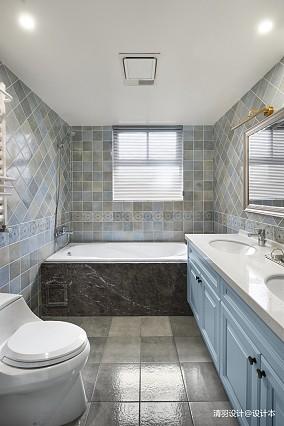 简洁120平现代四居卫生间装修图片四居及以上现代简约家装装修案例效果图