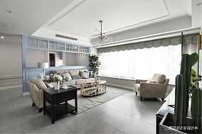 优美92平现代四居客厅装修效果图四居及以上现代简约家装装修案例效果图