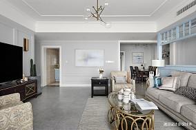 浪漫134平现代四居客厅实景图四居及以上现代简约家装装修案例效果图
