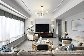 大气129平现代四居客厅美图四居及以上现代简约家装装修案例效果图