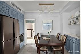 优美108平现代四居餐厅效果图片大全四居及以上现代简约家装装修案例效果图