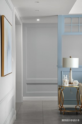 典雅138平现代四居过道案例图四居及以上现代简约家装装修案例效果图