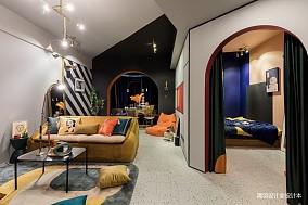 优雅88平混搭二居客厅效果图片大全