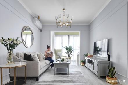 优美80平现代二居客厅装修设计图二居现代简约家装装修案例效果图