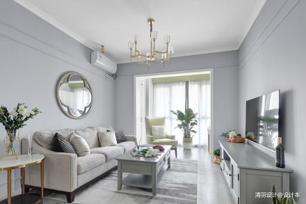 大气57平现代二居客厅装潢图