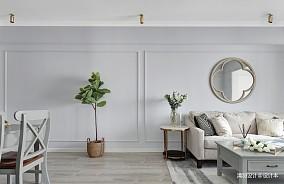 201964平现代二居客厅布置图