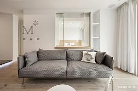 优美88平简约三居装修装饰图三居现代简约家装装修案例效果图
