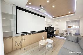 明亮112平简约三居图片大全三居现代简约家装装修案例效果图