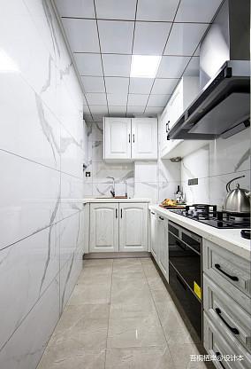 华丽56平美式二居厨房装修图二居美式经典家装装修案例效果图