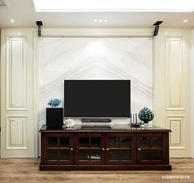 明亮71平美式二居客厅实景图二居美式经典家装装修案例效果图