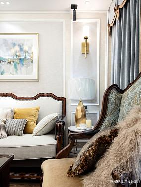 优美68平美式二居客厅设计案例二居美式经典家装装修案例效果图