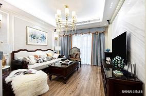勾勒幸福美式客厅设计图二居美式经典家装装修案例效果图