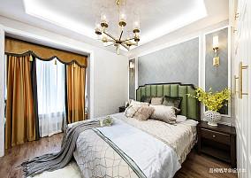勾勒幸福美式主卧室设计图二居美式经典家装装修案例效果图