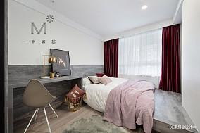 145㎡现代风二居卧室设计图二居现代简约家装装修案例效果图