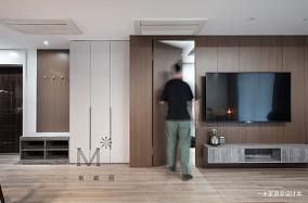 平现代二居设计图二居现代简约家装装修案例效果图